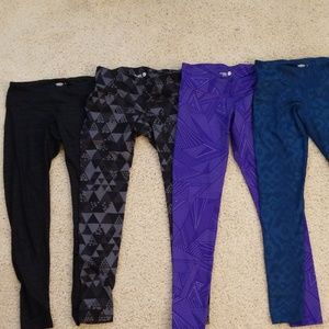 4 pairs of Old Navy Active Workout Running Pants M
